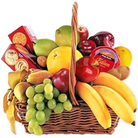 Cheese, Crackers & Fruit Basket