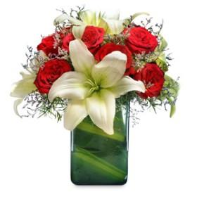 Rose N Lily In Vase