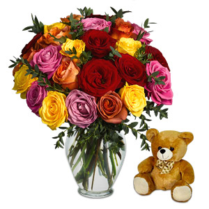 Marvel 24 Assorted Roses