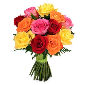 1 Dozen Mixed Roses Bouquet