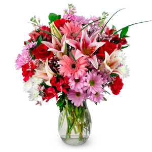 Floral Delight - Mixed Flowers in Vase