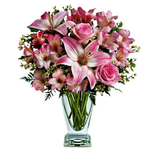 Roses And Lilies For Mom
