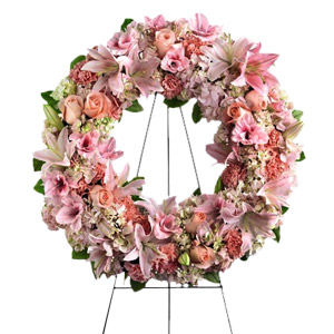 Warm Comfort Funeral Wreath