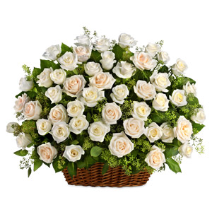 White Beauty Sympathy Basket