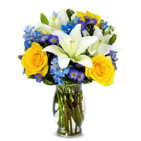The Bright Blue Sky Bouquet